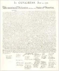 PHOTO CREDIT: http://www.archives.gov/exhibits/charters/declaration_zoom_2.html The Declaration effectively ensured justice for America and its people, and the importance of a rightly governed society.